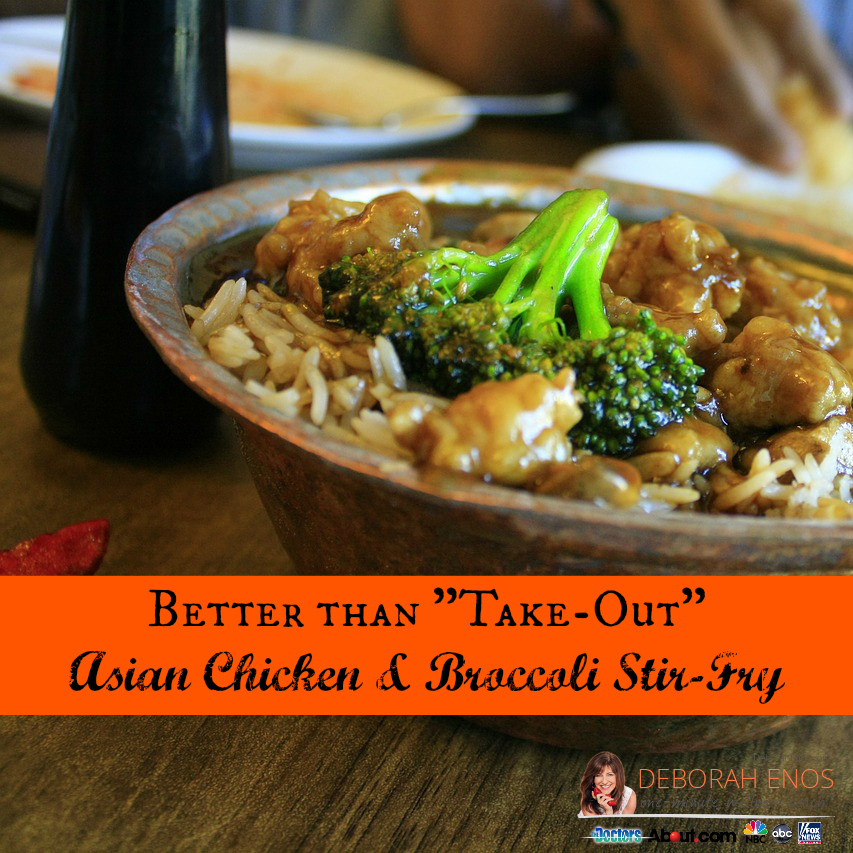 Better than Take-Out Asian Chicken & Broccoli Stir-Fry Recipe deborah enos
