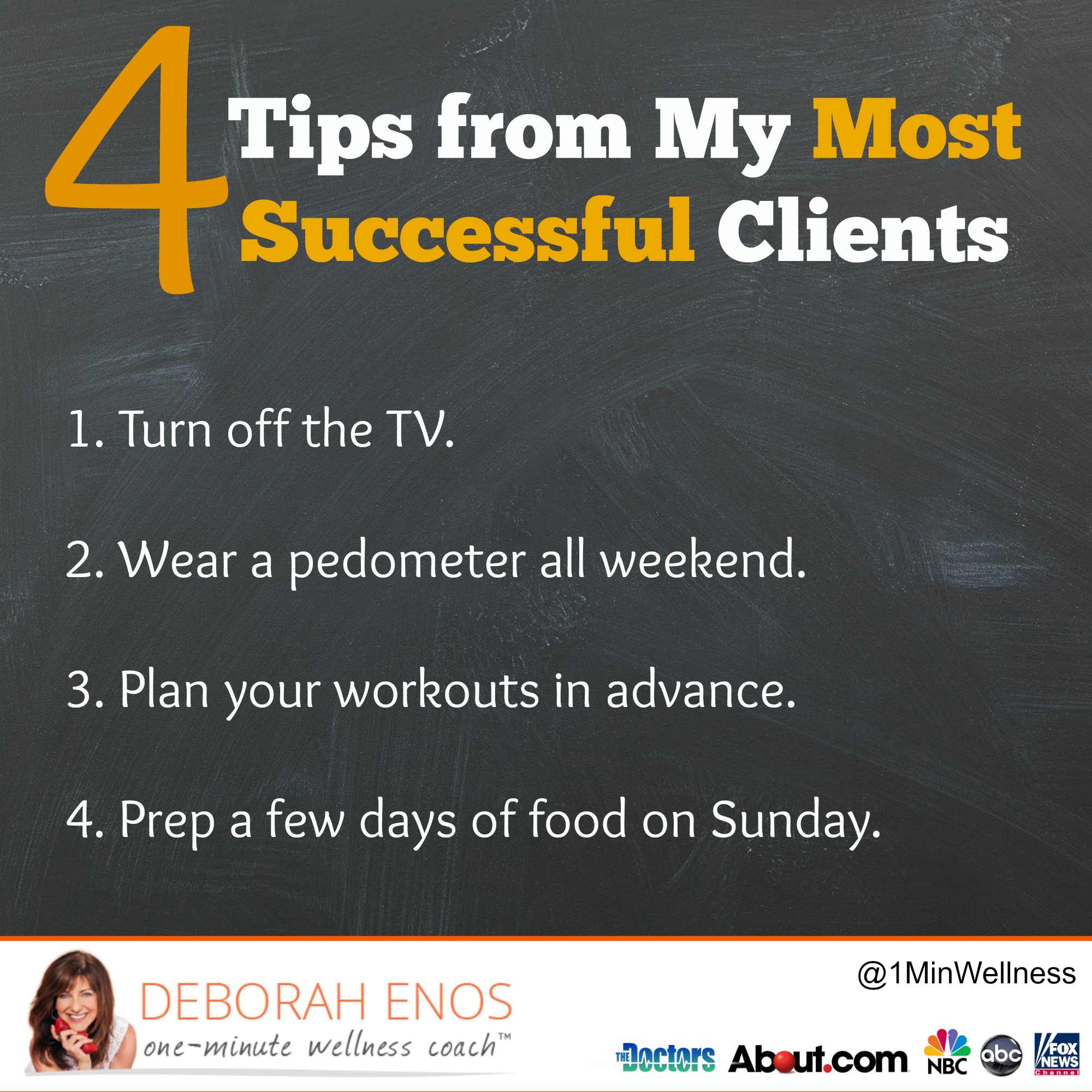 Deborah Enos Tips from Most Successful Clients