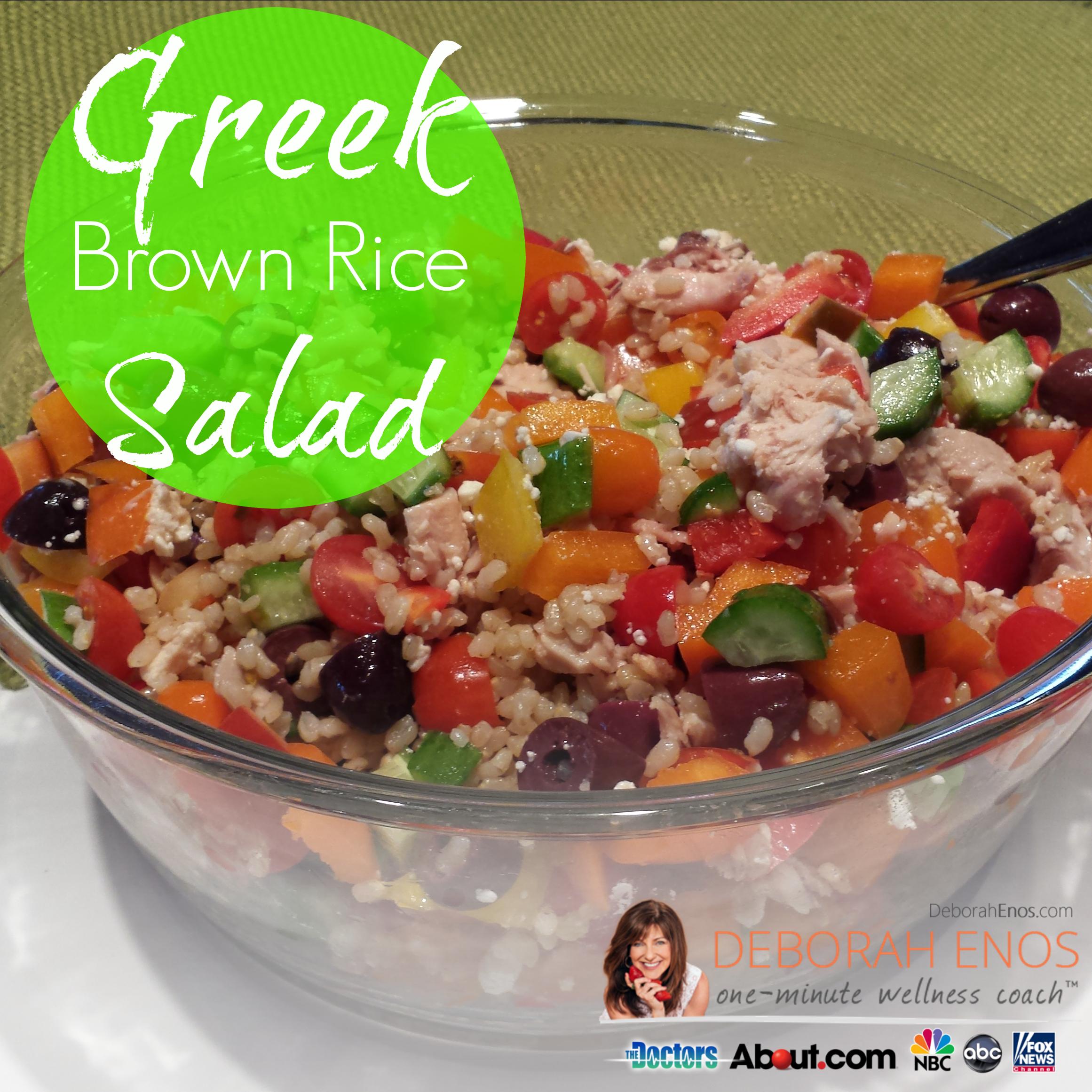 greek brown rice salad recipe
